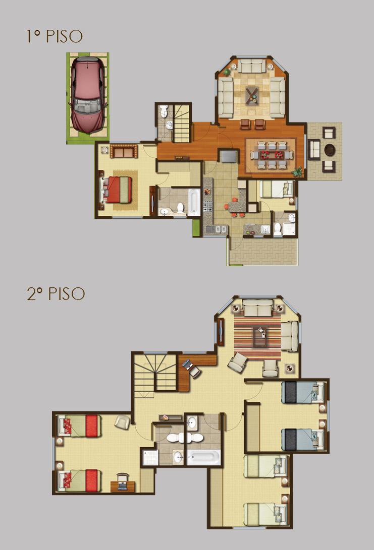 b30m7n3 Planos de casa prefabricadas dos piso