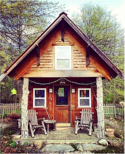 cabaña de madera prefabricada
