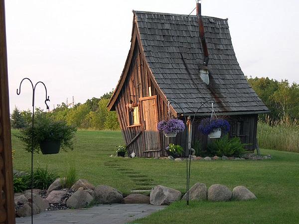 casita de madera de cuento