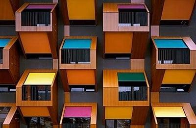 Bioarquitectura modular gracias a los colores
