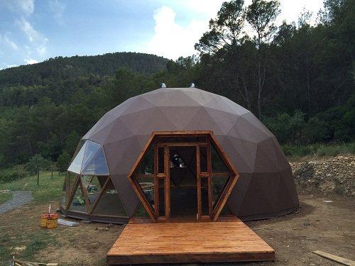 Se trata de una estructura en forma de cúpula