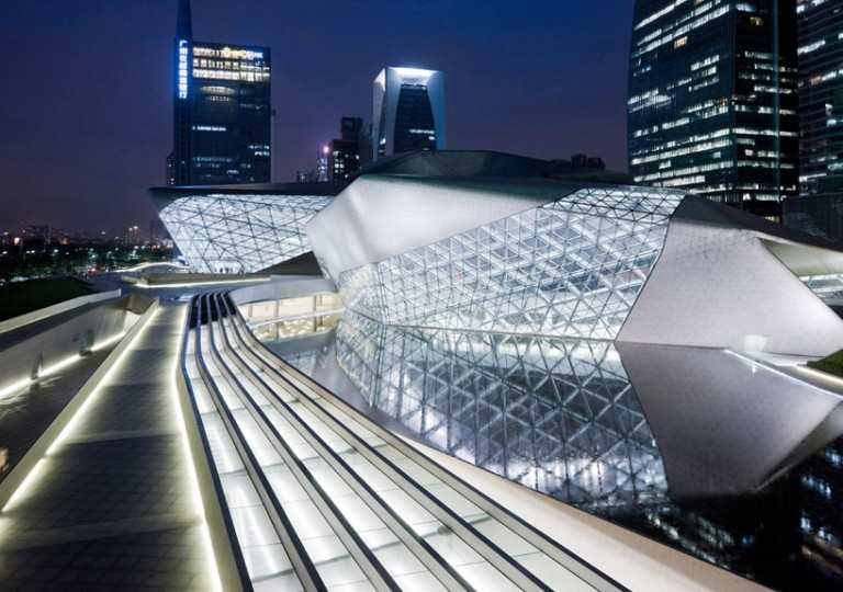 La casa de la ópera de Guangzhou