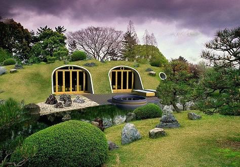 Casas de hobbits que se construyen en solo tres días y totalmente ecológicas