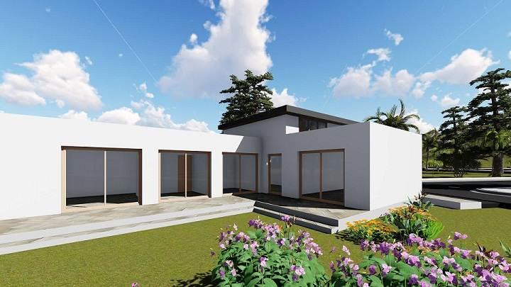 Casas prefabricadas con cubierta inclinada