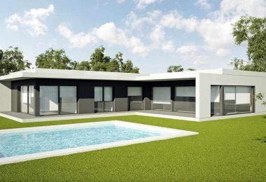 diseño de casas prefabricadas en forma de L