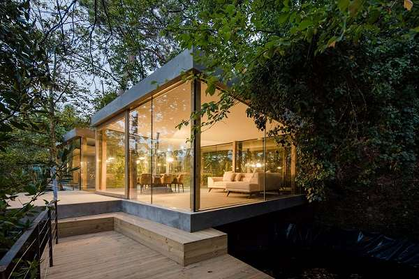 Casas de cristal con impresionables vistas