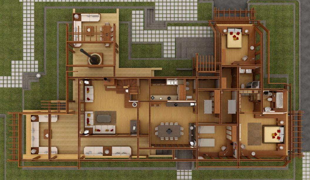 Dise ar los planos de casas de madera perfectos - Casas de madera planos ...