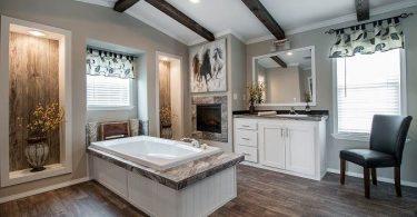 bañera o ducha realizada para casa prefabricada