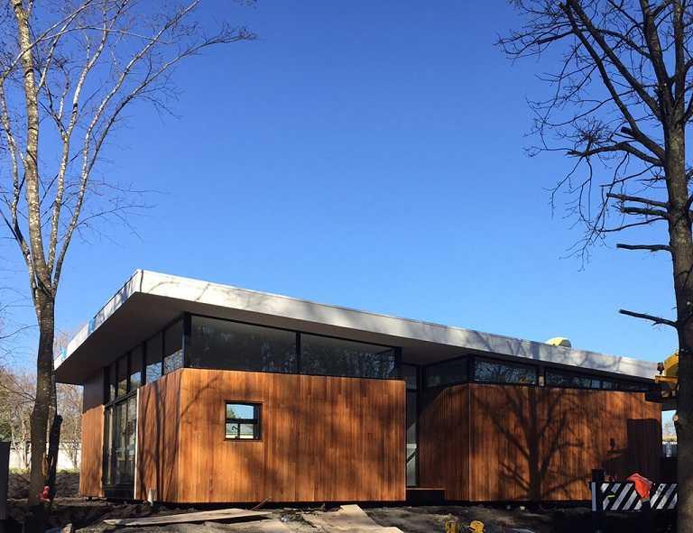 casa prefabricada con orientación norte