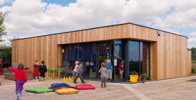 escuelas modulares para ampliar las aulas
