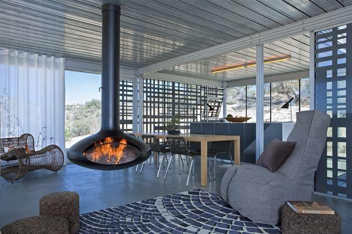 interior casa prefabricada de acero