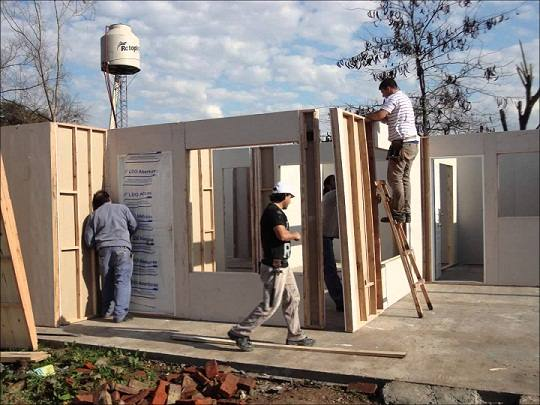 montaje viviendas prefabricadas con hormigón armado