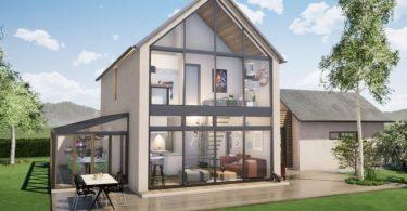 realidad virtual de una casa tradicional-moderna 360º